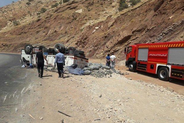 تصادف در جاده پلدختر- خرم آباد 2 مجروح برجای گذاشت