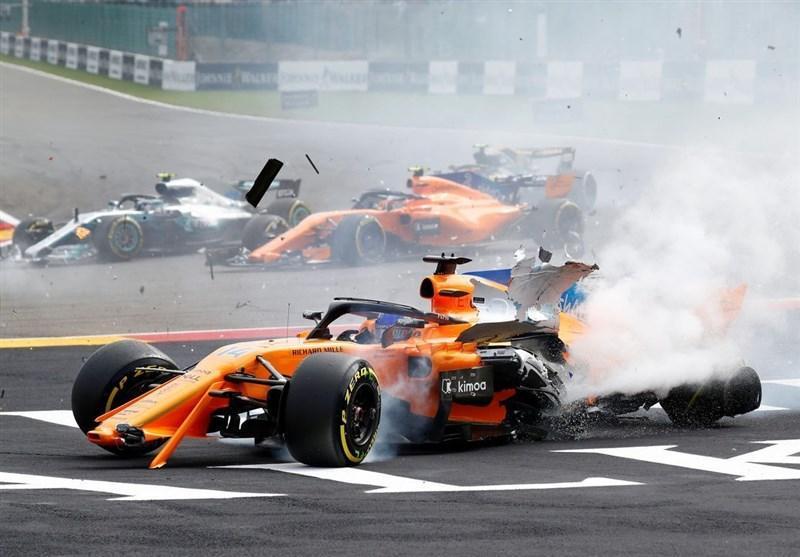 هراس در بلژیک؛ حادثه برای خودروی آلونسو