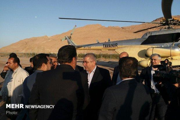 وزیر نیرو وارد استان سمنان شد، اولین مقصد گرمسار