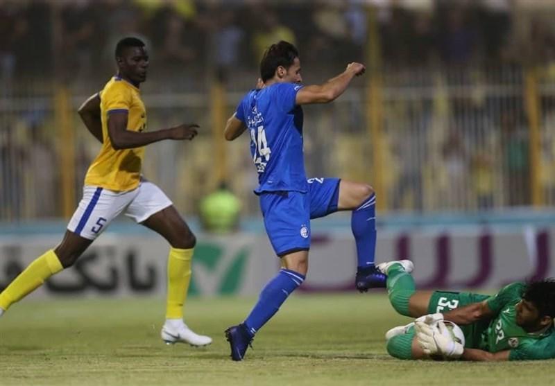 جام حذفی فوتبال، تساوی نفت مسجدسلیمان و استقلال در نیمه نخست