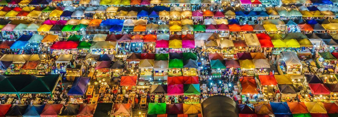 تصاویر بازار رنگارنگ شب در بانکوک│ 30 تیر بانکوکی ها را ببینید