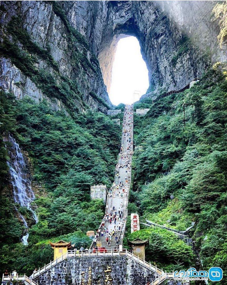 دروازه بهشت در آغوش جانگ جیاجیه چین