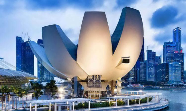 موزه ای به شکل گل نیلوفر در سنگاپور