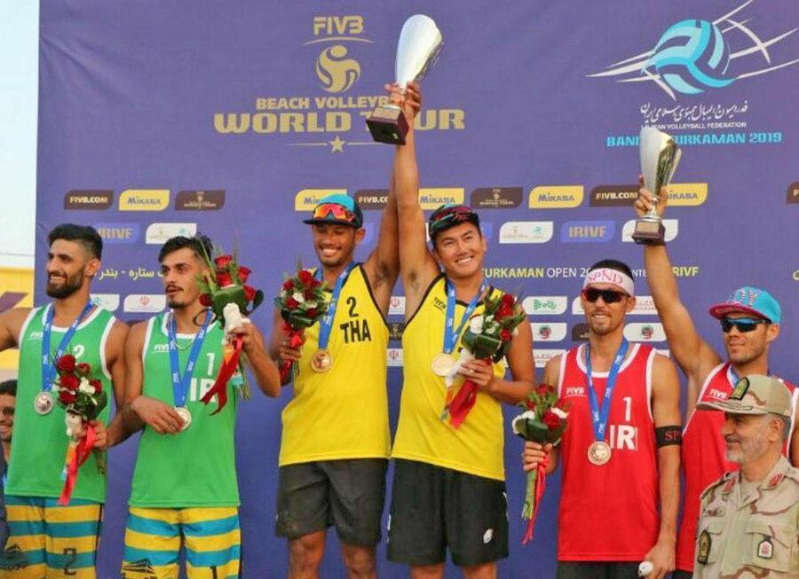 تیم تایلند قهرمان تور تک ستاره والیبال ساحلی بندرترکمن شد