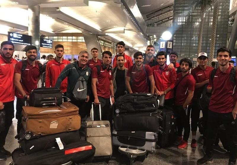 اعضای تیم فوتبال امید به دوحه رسیدند