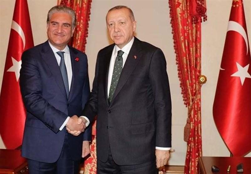 تاکید قریشی بر تلاش پاکستان برای صلح در افغانستان در دیدار با اردوغان
