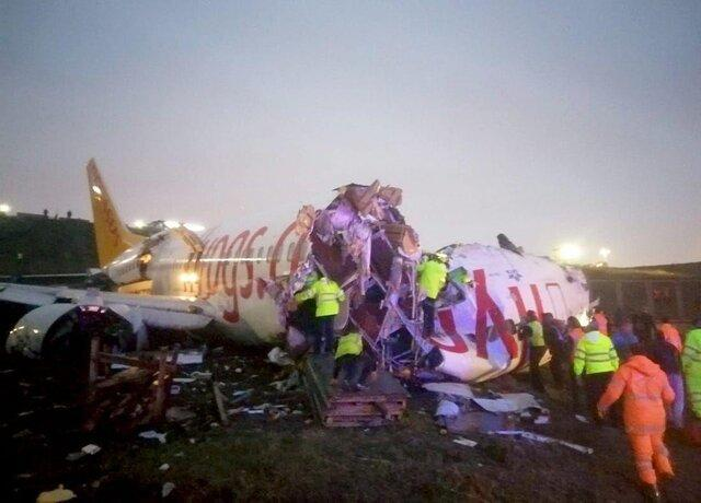 سانحه هوایی در فرودگاه استانبول با یک کشته و 157 زخمی