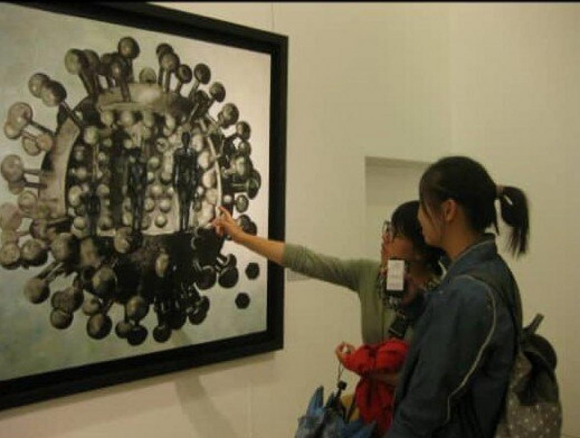 هنرمندی که 8 سال پیش کرونا را نقاشی کرد!