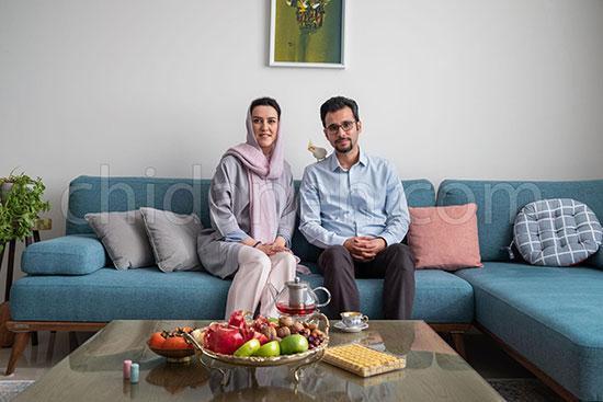 دکوراسیون خانه سحر و یاسر با رنگ های پاستلی