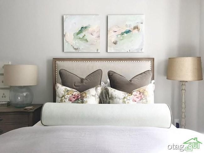 نحوه تزیین دکور بالای تخت خواب به شیوه ای ساده و تاثیر گذار
