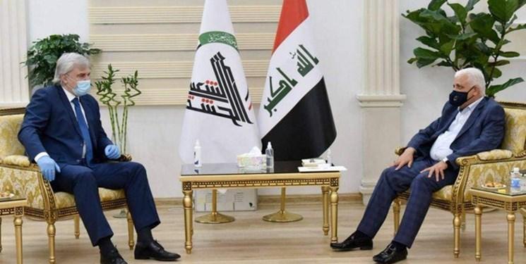 ملاقات سفیر روسیه با رئیس سازمان الحشد الشعبی عراق