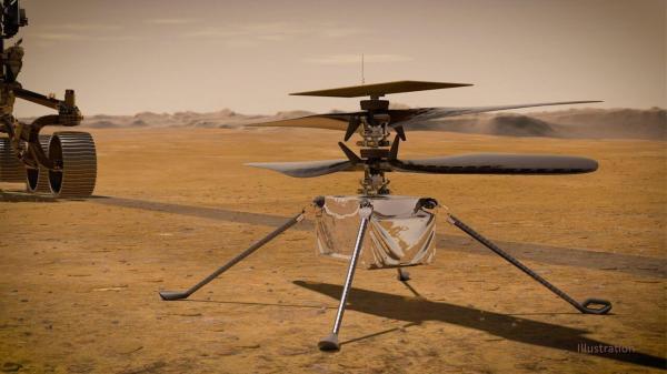 بالگرد نبوغ در مریخ با زمینی ها تماس گرفت