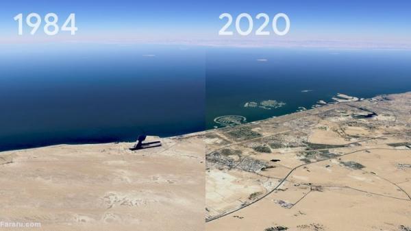 تحولات 40 ساله زمین در چند ثانیه
